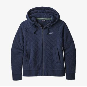 Patagonia Cotton Quilted Full Zip Hoodie Jacket